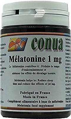 Melatonina 1mg reduce el tiempo de sueño, alivia los efectos del jet lag EFECTO BENEFICIARIO CON 1 CAPSULA VEGETALE ⭐ Trastorno del sueño NON OGM, ...