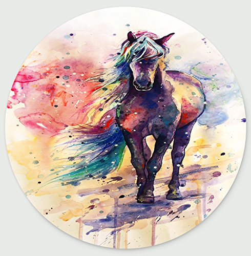 Spirited Designs - Good Spirited Horse Design Personalized Round Desktop Mousepad Mouse Pad (20 x 20 cm)