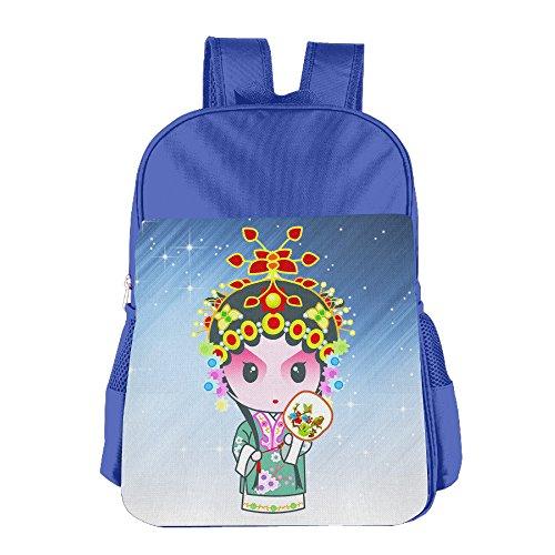 Waynes World Costume Girl (FUOALF Chinese Peking Opera Kids Children Boys Girls Shoulder Bag School Backpack Bags)
