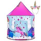 Unicorn Tent for Girls - Unicorn Pop Up Kids Tent w/ Unicorn Headband and Case, Unicorn Toys for...