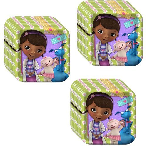 Disney Doc McStuffins Party Cake/Dessert Plates - 24 Guests by Hallmark