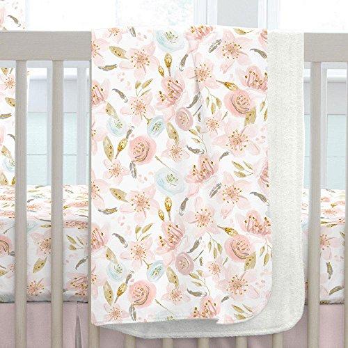 - Carousel Designs Pink Hawaiian Floral Crib Blanket