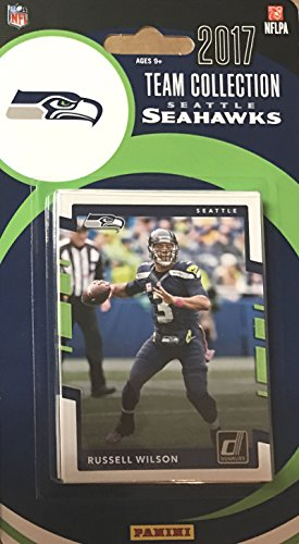 (Seattle Seahawks 2017 Donruss Factory Sealed Team Set with Russell Wilson, Richard Sherman, Jim Zorn plus)
