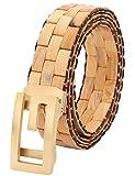 Menschwear Mens & Womens Adjustable Arborvitae Wooden Belt Handmade 120CM