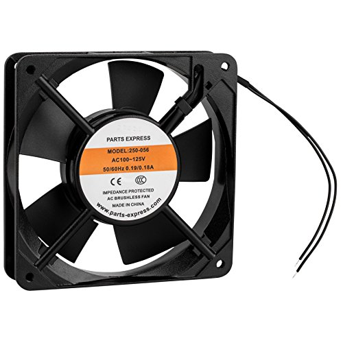 Parts Express Muffin Style Axial Cooling Fan 120 VAC 120 x 120 x 25mm 45 CFM by Parts Express (Image #1)