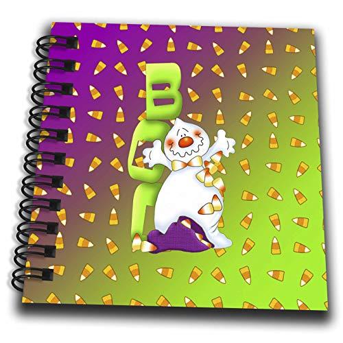 3dRose Beverly Turner Halloween Design - Green Boo White Ghost, Purple Bag of Candy Corns, Candy Corn Design - Mini Notepad 4 x 4 inch (db_287061_3)]()