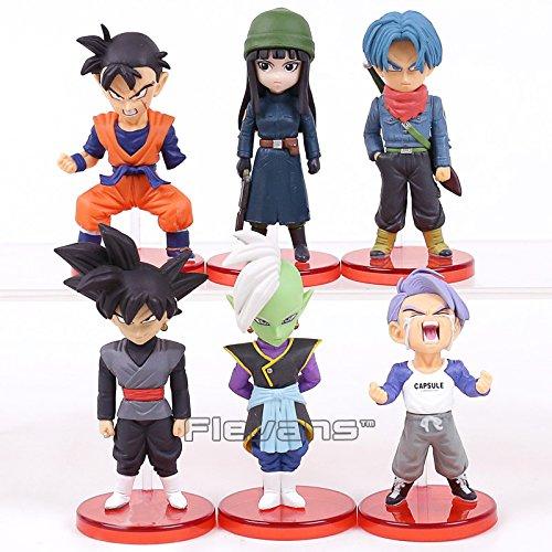 6 pcs/set Dragon Ball Super vol.5~7 Son Goku Vegeta Zen Black Trunks Mai PVC Figures Collectible Model Toys 4~9cm