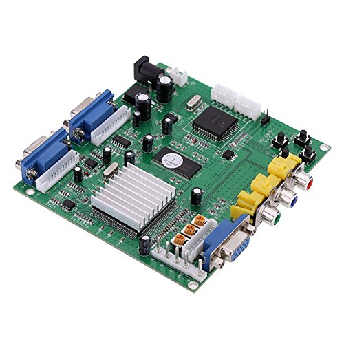 Game Video Converter Board - Gonbes Portable Genuine GBS-8220 V3.0 High Definition CGA/EGA/YUV to VGA(2 * VGA)Arcade Game Video Converter Board Two VGA Output for CRT Monitor LCD Monitor PDP Monitor ()