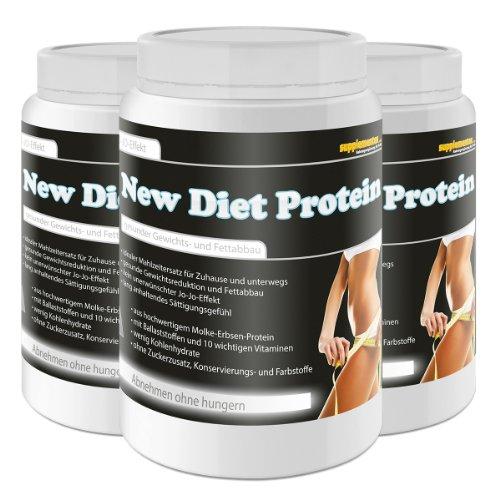 New Diet Protein! 3x400g Diätdrink Straffen Gewichtsreduktion Molke und Erbsenprotein Fettabbau Eiweiß Molke Geschmack Banane
