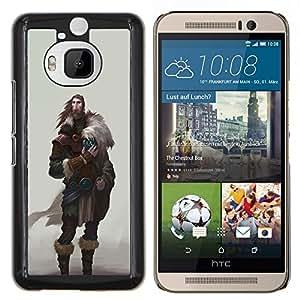 Stuss Case / Funda Carcasa protectora - Guerrero Vikingo El hombre de la barba salvaje Antiguo - HTC One M9Plus M9+ M9 Plus