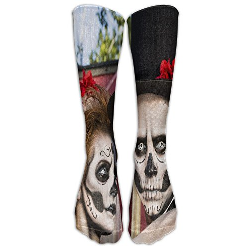 Elephant AN Novelty Halloween Makeup Bride And Groom Stylish Premium Quality Calf High Socks Athletic Crew Socks