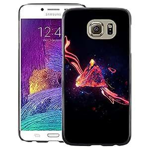 Snap-on Series Teléfono Carcasa Funda Case Caso para Samsung Galaxy S6 , ( Space Galaxy Swirl )