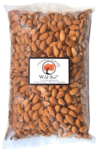 Wild Soil Almonds - Distinct and Superior to Organic, Herbicide Free, Steam Pasteurized, Probiotic, Raw 3LB Bag (Growing A Black Walnut Tree From Seed)