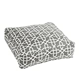 Mozaic AMCS108411 Square Pillow, Sunbrella-Bevel Smoke