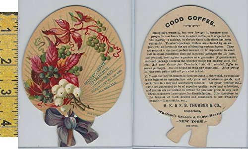 Victorian Card, 1890's, Thurber Coffee, New York, Diecut Grapes ()