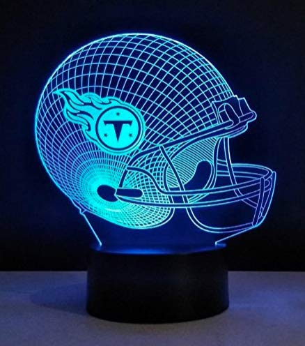 Football Helmet Light - Touch Control Football Helmet Light- Upgraded Color Changing Touch Light - Night Light for Boys Men Women - Perfect Gift for Football Sports Lovers (Tennessee ()