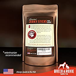 Rocco & Roxie Gourmet Jerky Dog Treats - Slow Smoked, Delicious, Tender AND Healthy 7\