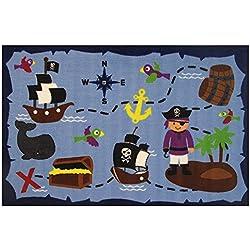 "Fun Rugs Ahoy Matey Pirate Treasure 39""x58"" Area Rug"