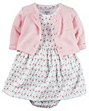 Carter's Baby Girls' 2 Piece Floral Dress Set Pink/Geo Pattern-9M