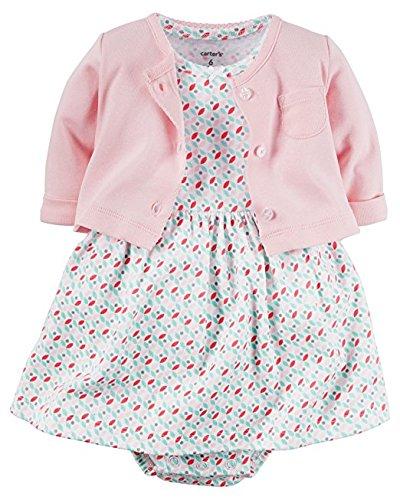 Carter's Baby Girls' 2 Piece Floral Dress Set Pink/Geo ()