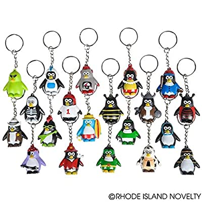 RINCO Lot of 20 Penguin Keychains: Toys & Games