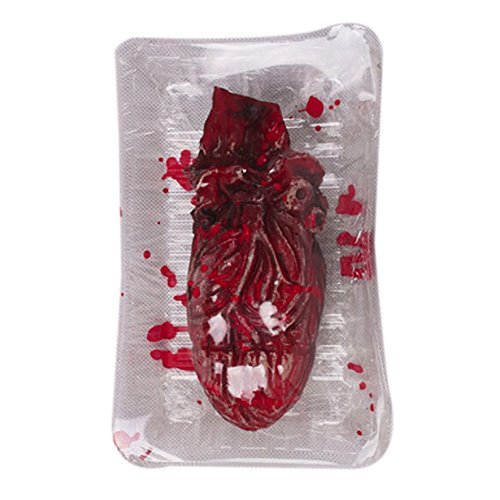 Leezo Halloween Scary Prop Bloody Hand Human Body Parts Fake Severed Hand Foot Heart Brain Dining Box Prop for Halloween Party Indoor Outdoor