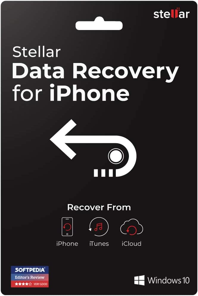 Stellar Data Recovery for iPhone Software   For Windows   Standard   Recover Deleted Data from iPhone & iPad   3 Device, 1 Yr Subscription   Activation Key Card