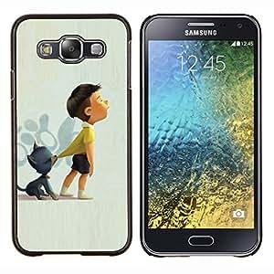 """For Samsung Galaxy E5 E500 Case , Gato Dibujo Arco madre de la mamá Arte Kid"""" - Diseño Patrón Teléfono Caso Cubierta Case Bumper Duro Protección Case Cover Funda"""