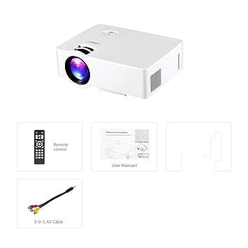 ZYZYZ Proyector, Resolución Wi-Fi Bluetooth proyector 4K ...