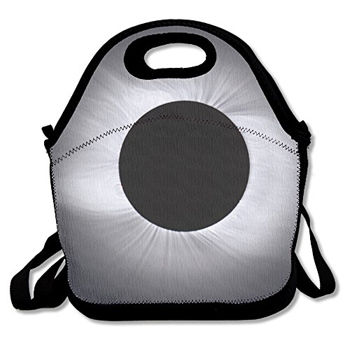 HEHE TAN A Total Solar Eclipse Insulated Waterproof Lunch Tote Bag Portable Lunch Box Cooler Food Container For Picnic School Work