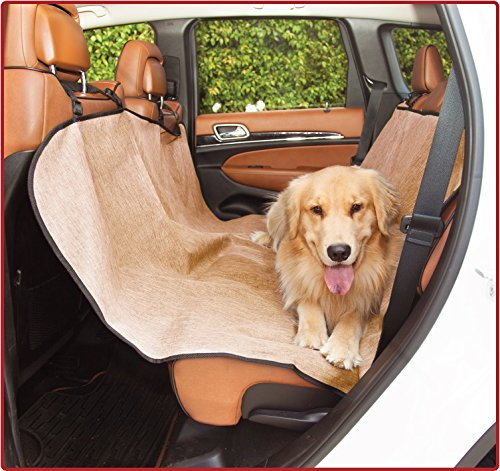 Majestic Tan Hammock Dog Car Seat Cover Waterproof Non Slip Rear Bench Seat Protector Universal Auto Back Seat Covers Child Baby & Infant Mat Pet Travel Accessories Stain Protection for Cars & SUV