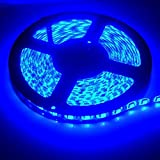 XT AUTO 12v 5M 3528 300 SMD Neon Blue Led Car Flexible Waterproof Underbody Light Strip