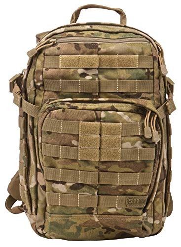 5.11 Tactical Military Backpack - RUSH12 - Molle Bag Rucksack Pack, 24 Liter Small, Style 56892, MultiCam