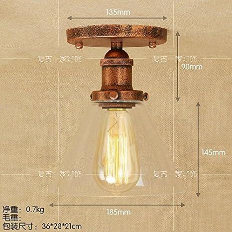 Larsure Estilo Vintage Modern Iluminación de techo Lámparas ...