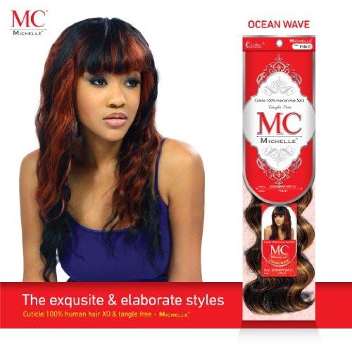 """Michelle Human Hair Blend Weave Ocean Wave Curl 16"""" (Buy 1 GET 1 Free) (16"""", #2)"""