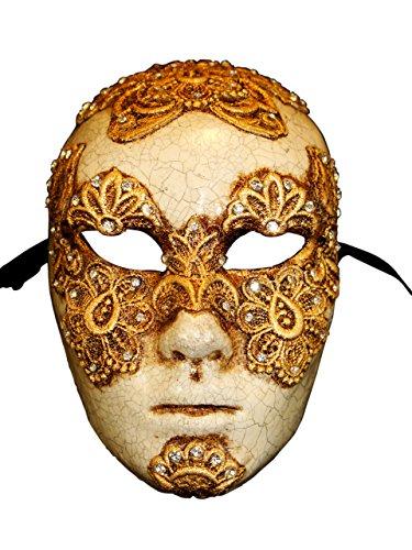 Eyes Wide Shut Costumes (Venetian Full Face Eyes Wide Shut Mask Volto Mac for Men (gold))