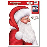Beistle Santa Backseat Driver Car Cling, 12-Inch by 17-Inch Sheet