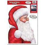 Santa Backseat Driver Car Cling Party Accessory (1 count) (1/Sh)