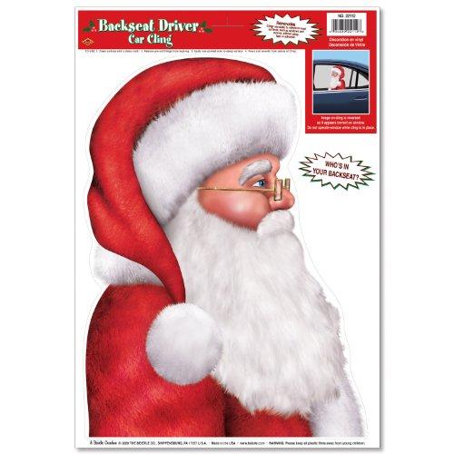 Santa Backseat Driver Cling Accessory
