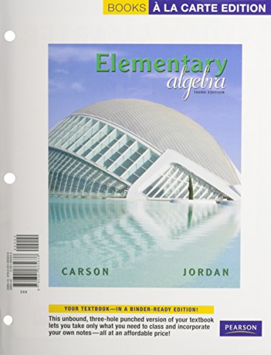 Elementary Algebra, A La Carte Text with MML/MSL Student Access Kit (adhoc for valuepacks) (3rd Edition)