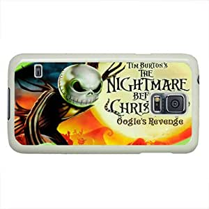 Customized Cute Cartoon Movie The Nightmare Before Christmas jack and sally Wallpaper PC White Case Cover for Samsung galaxy S5