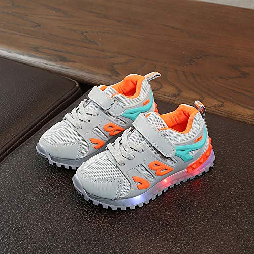 Boys Girls Led Light Luminous Shoe Mesh Outdoor Casaul Shoes(Toddler/Little Kid/Big Kid) by Lurryly (Image #3)