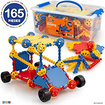 Play22 Building Toys For Kids 165 Set - STEM Educational Construction Toys - Building Blocks For Kids 3+ Best Toy Blocks Gift For Boys and Girls - Great Educational Toys Building Sets - Original