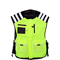 PROFIRST Mens Hi Vest Motorbike Hi Viz Waterproof Motorcycle Hi Vis Waistcoat Jacket High Visibility Size Medium Yellow