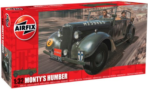 Airfix Monty's Humber Snipe Staff Car Building Kit, 1:32 Sca