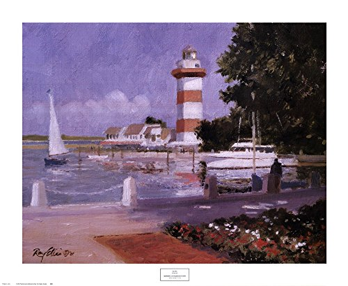 Ray Ellis Harbor - Morning at Harbour Town by Ray Ellis Art Print, 32 x 26 inches