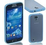 Case AceTM Slim Fit Flex TPU+PC Clear Matte Case Cover for Samsung Galaxy S4 S IV i9500 (Blue)