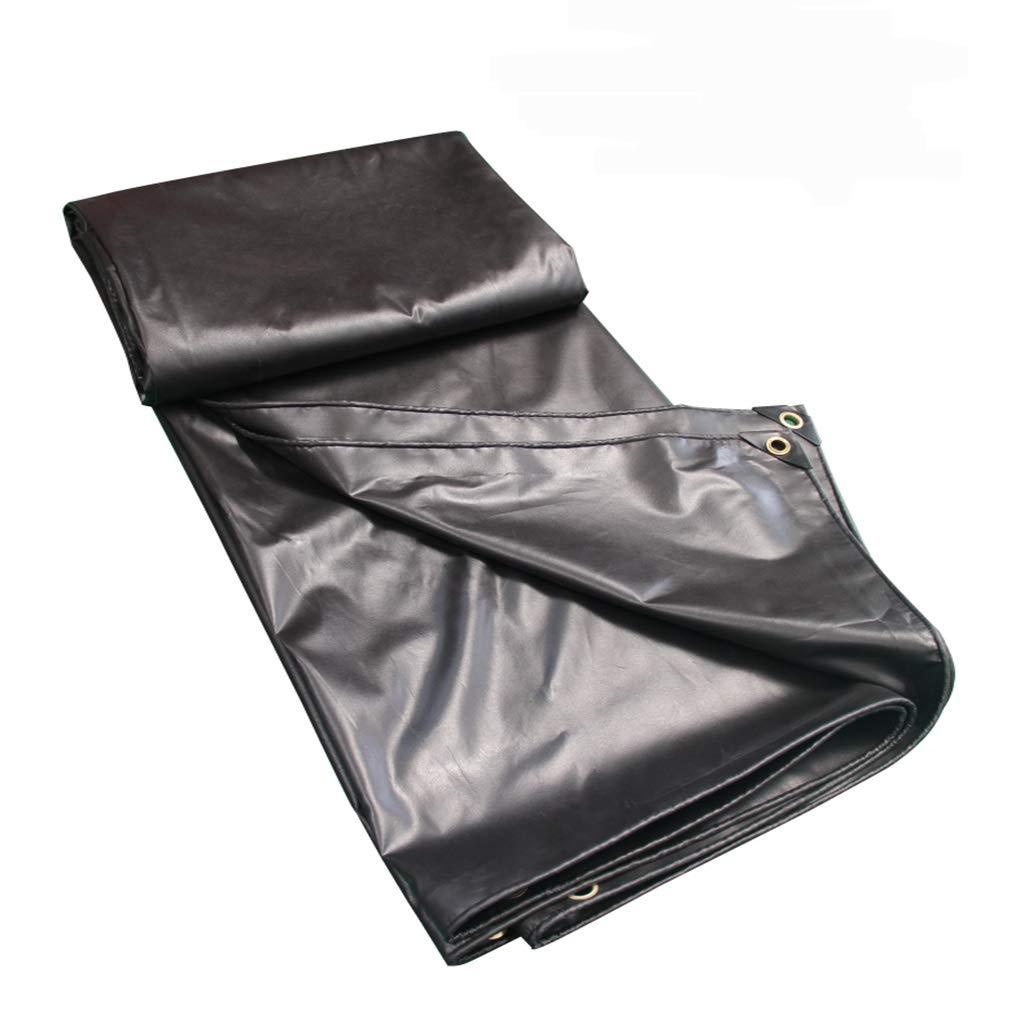 Zeltplanen Plane PVC-Schattierung Polyester Leinwand Wasserdicht Sonnencreme LKW Wasserdicht Schwarz Baldachin Tuch