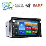 XTRONS Android 6.0 Octa-Core 64Bit 7 Inch Capacitive Touch Screen Car Stereo Radio DVD Player GPS CANbus Screen Mirroring Function OBD2 Tire Pressure Monitoring for VW Passat B5 MK3/4/5
