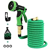 50ft Expandable Garden Hose, Lightweight Flexible Expanding Water Hose with 9 Pattern High